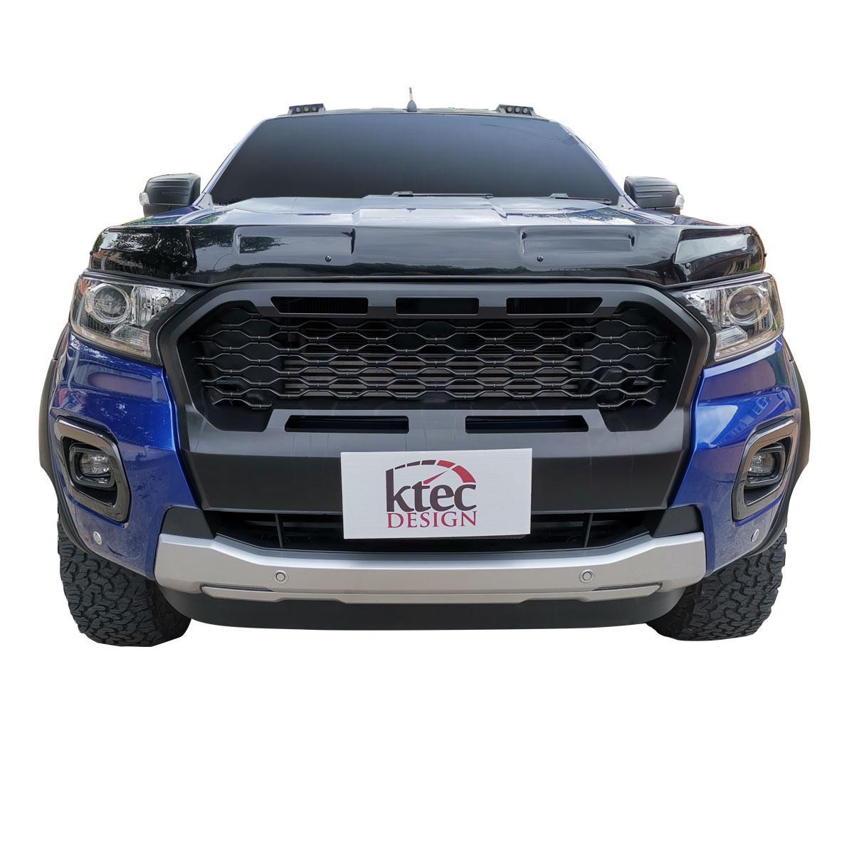 JHCHAN Motorhauben-Schutz-Windabweiser-Set f/ür Ford Ranger Wildtrak T7 T8 2016 2020 PX MK2 MK3 XL XLT Steinschutz Windschutz
