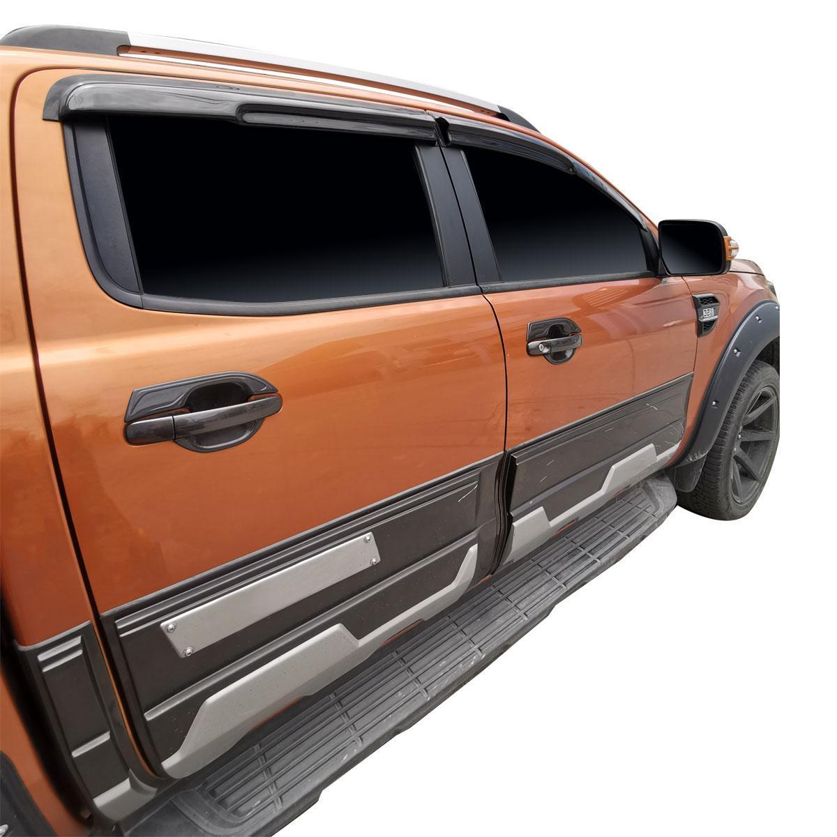 chrom 2015/Windabweiser Set/ /Double Cab 4/St/ück F/ür Toyota HiLux 2005