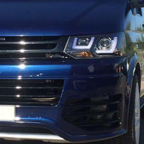 Volkswagen Tuning Design Scheinwerfer Vw T5 Facelift Ab